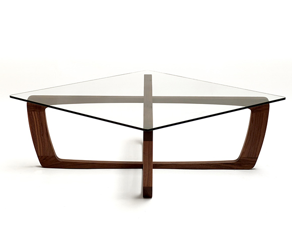contemporary wooden coffee table glass top kustom 7